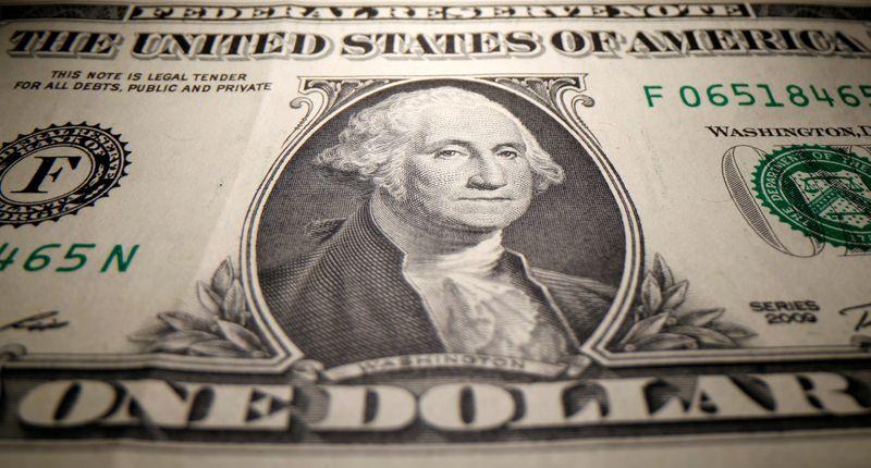 Dollar awaits Powell's remarks