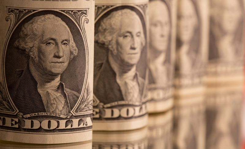 Dollar heads for third weekly gain