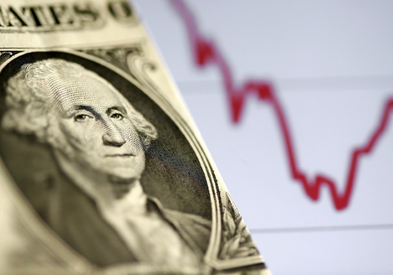 Dollar holds below one-month high