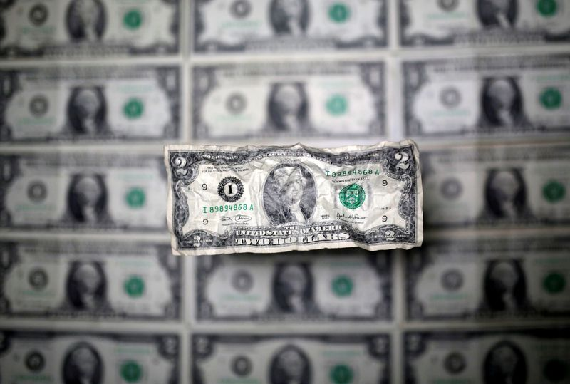 Dollar near two-week high