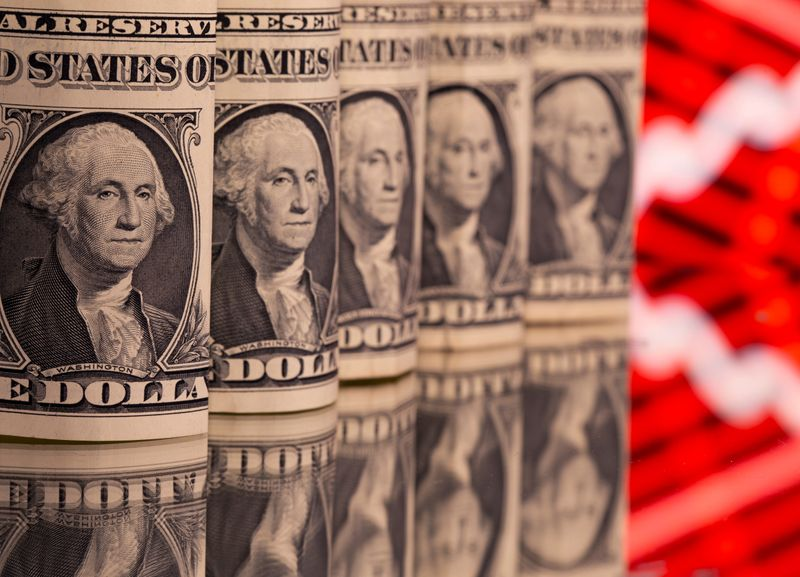 Dollar slips to three-week low