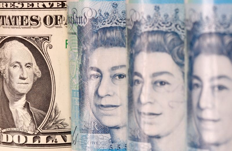 Sterling gains dollar on back foot