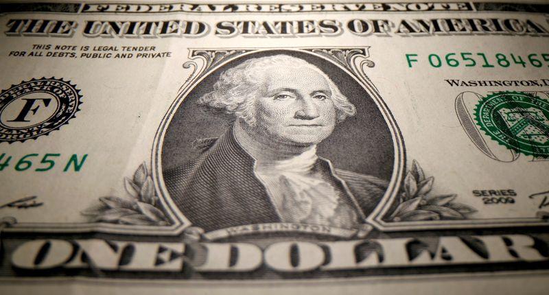 Dollar Down Near One-Month